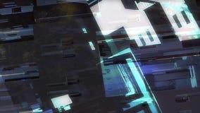 Do ambiente urbano geométrico das luzes da cidade da cor vídeo sem emenda digital de deslocamento abstrato ilustração do vetor