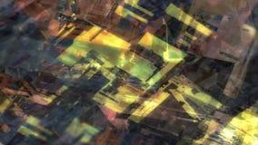 Do ambiente urbano geométrico das luzes da cidade da cor vídeo sem emenda digital de deslocamento abstrato ilustração stock