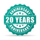20 do aniversário anos de ícone da celebração Fotografia de Stock