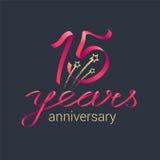 15 do aniversário anos de ícone do vetor Foto de Stock