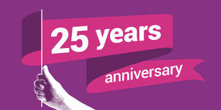 25 do aniversário anos de ícone do vetor ilustração royalty free