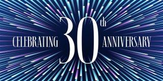 30 do aniversário anos de ícone do vetor, bandeira Foto de Stock Royalty Free