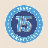 15 do aniversário anos de ícone do vetor, emblema Foto de Stock