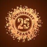 25 do aniversário anos de ícone do vetor, logotipo Imagens de Stock Royalty Free