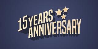 15 do aniversário anos de ícone do vetor, logotipo ilustração do vetor