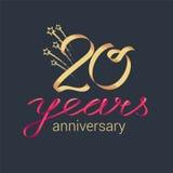 20 do aniversário anos de ícone do vetor, logotipo Fotografia de Stock