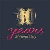 30 do aniversário anos de ícone do vetor, logotipo Imagem de Stock