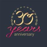 30 do aniversário anos de ícone do vetor, logotipo Imagens de Stock Royalty Free