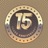 15 do aniversário anos de ícone do vetor, logotipo Imagem de Stock Royalty Free