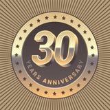30 do aniversário anos de ícone do vetor, logotipo Imagem de Stock Royalty Free
