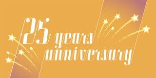 25 do aniversário anos de ícone do vetor, logotipo ilustração stock