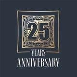 25 do aniversário anos de ícone do vetor, logotipo Fotografia de Stock
