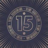 15 do aniversário anos de ícone do vetor, logotipo Imagem de Stock