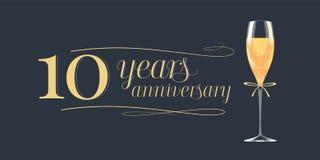 10 do aniversário anos de ícone do vetor, logotipo Imagem de Stock Royalty Free