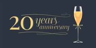 20 do aniversário anos de ícone do vetor, logotipo Fotos de Stock