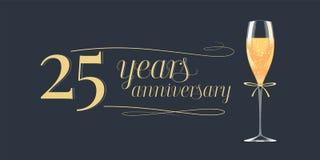 25 do aniversário anos de ícone do vetor, logotipo Imagem de Stock