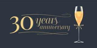 30 do aniversário anos de ícone do vetor, logotipo Fotos de Stock Royalty Free