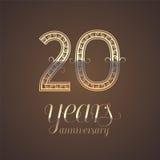 20 do aniversário anos de ícone do vetor, símbolo ilustração do vetor