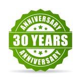 30 do aniversário anos de ícone do vetor Fotos de Stock