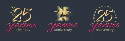 25 do aniversário anos de ícone do vetor, grupo do logotipo Imagens de Stock Royalty Free