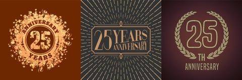 25 do aniversário anos de ícone do vetor, grupo do logotipo Imagem de Stock Royalty Free