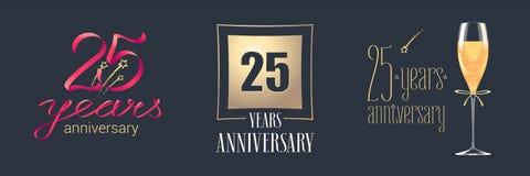 25 do aniversário anos de ícone do vetor, grupo do logotipo Fotografia de Stock Royalty Free