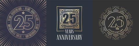 25 do aniversário anos de ícone do vetor, grupo do logotipo ilustração do vetor