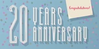 20 do aniversário anos de ícone do vetor, log Imagem de Stock