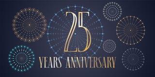25 do aniversário anos de ícone do vetor, logotipo Fotografia de Stock Royalty Free
