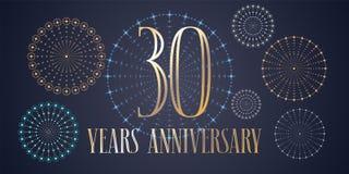 30 do aniversário anos de ícone do vetor, logotipo Foto de Stock
