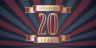 20 do aniversário anos de ícone do vetor, logotipo Imagens de Stock