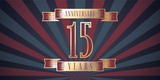 15 do aniversário anos de ícone do vetor, logotipo Imagens de Stock Royalty Free