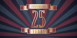 25 do aniversário anos de ícone do vetor, logotipo Fotos de Stock