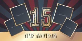 15 do aniversário anos de ícone do vetor, logotipo Fotografia de Stock