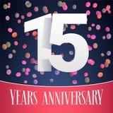 15 do aniversário anos de ícone do vetor, logotipo Fotos de Stock Royalty Free
