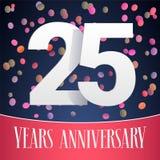 25 do aniversário anos de ícone do vetor, logotipo Imagem de Stock Royalty Free