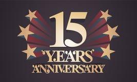 15 do aniversário anos de ícone do vetor, logotipo Imagens de Stock