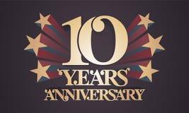 10 do aniversário anos de ícone do vetor, logotipo Imagens de Stock Royalty Free