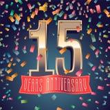 15 do aniversário anos de ícone do vetor, logotipo Foto de Stock Royalty Free