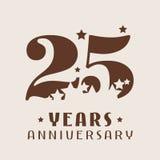 25 do aniversário anos de ícone do vetor, logotipo ilustração do vetor