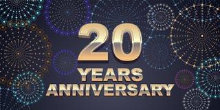 20 do aniversário anos de ícone do vetor, logotipo Foto de Stock
