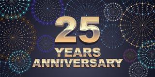 25 do aniversário anos de ícone do vetor, logotipo Fotos de Stock Royalty Free