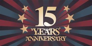 15 do aniversário anos de ícone do vetor, logotipo, bandeira Fotografia de Stock Royalty Free