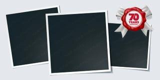 70 do aniversário anos de ícone do vetor, logotipo Elemento do projeto, cartão ilustração do vetor