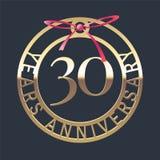 30 do aniversário anos de ícone do vetor, símbolo Fotos de Stock