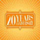20 do aniversário anos de ilustração do vetor, ícone, logotipo Fotografia de Stock