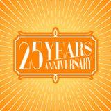 25 do aniversário anos de ilustração do vetor, ícone, logotipo Imagem de Stock Royalty Free