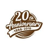 20 do aniversário anos de molde do projeto Vetor e ilustração 20o logotipo ilustração do vetor