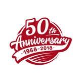 50 do aniversário anos de molde do projeto Vetor e ilustração 50th logotipo ilustração do vetor
