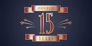 15 do aniversário da celebração anos de ícone do vetor, logotipo Foto de Stock Royalty Free